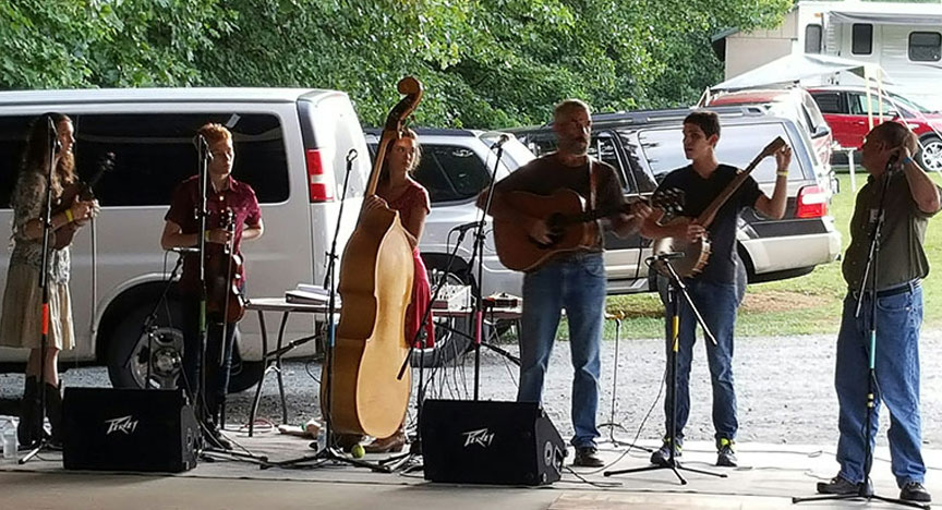 Ashe County Bluegrass and Old Time Fiddlers Convention in Jefferson