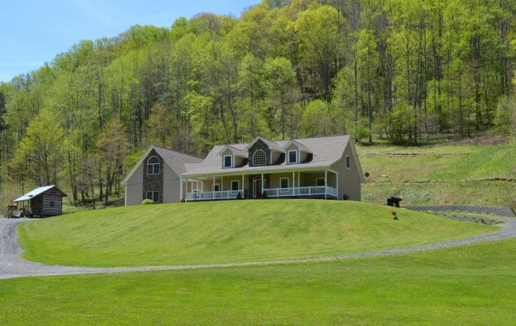 Creek-side Living:  Secluded Mountain Estate in Ashe County