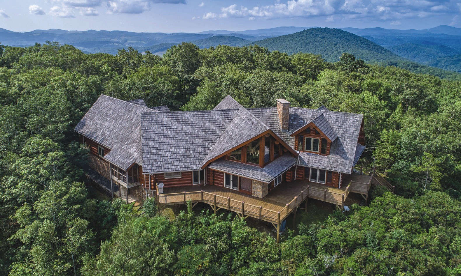 Private Furnished NC Mountaintop Estate