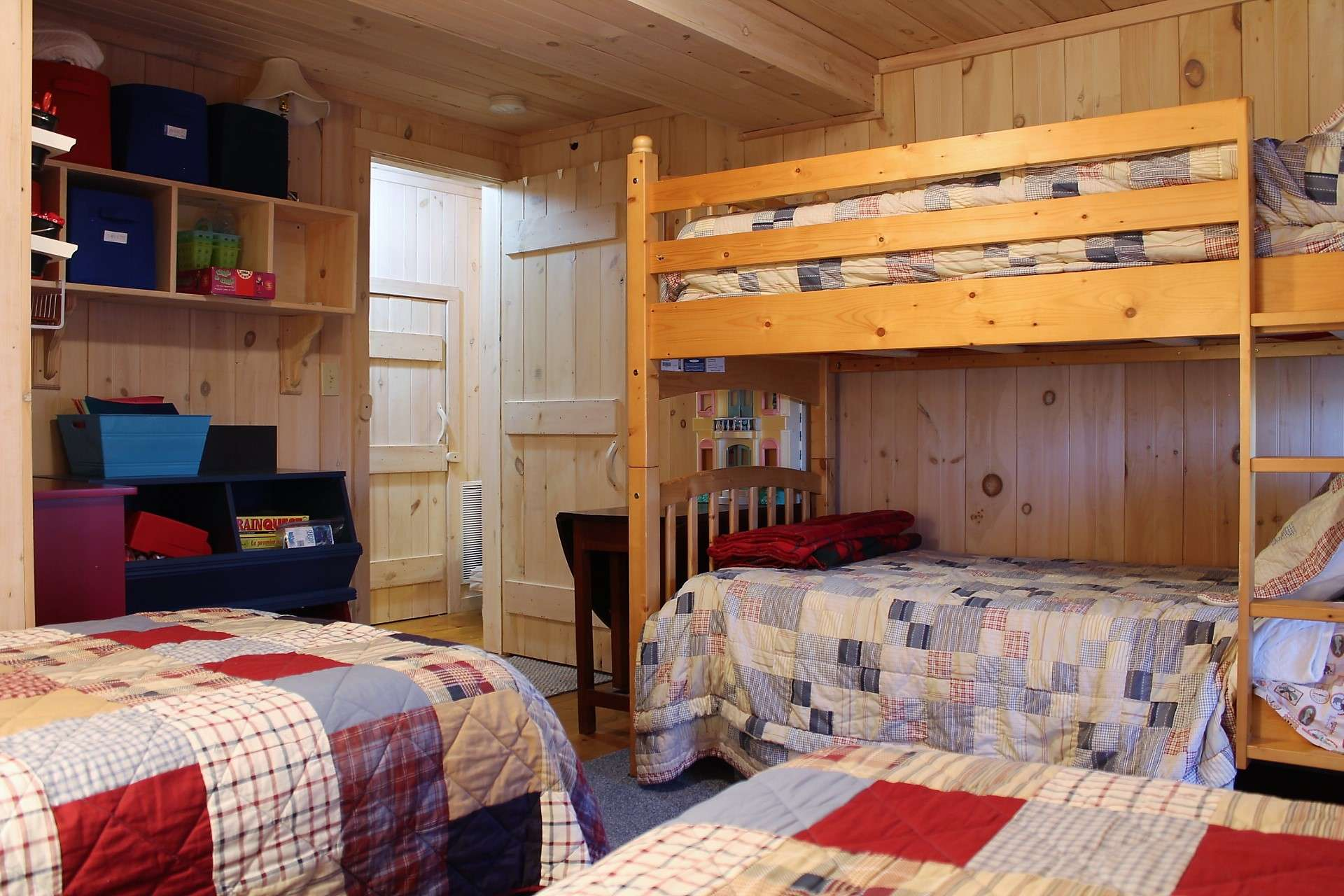 Grandkids will love this adorable bunkroom!!