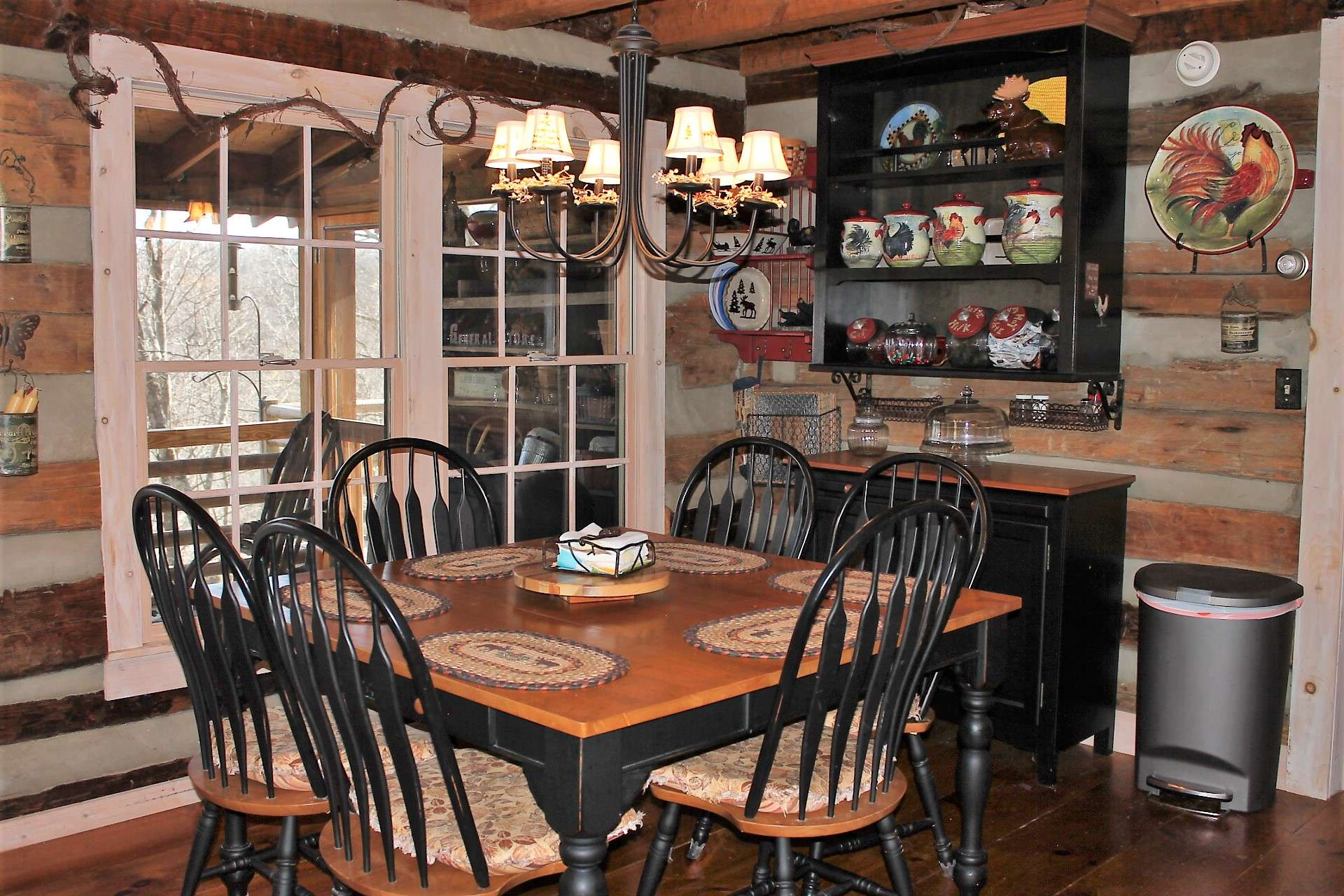 Dining area is spacious for larger family get togethers.