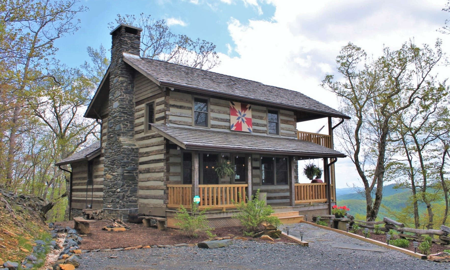Antique Style Log Cabin NC Mountains