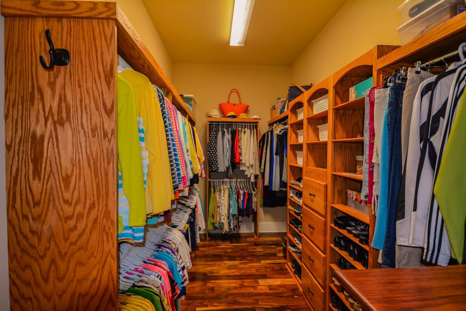 You will love the large his and hers closets offering abundant storage space.