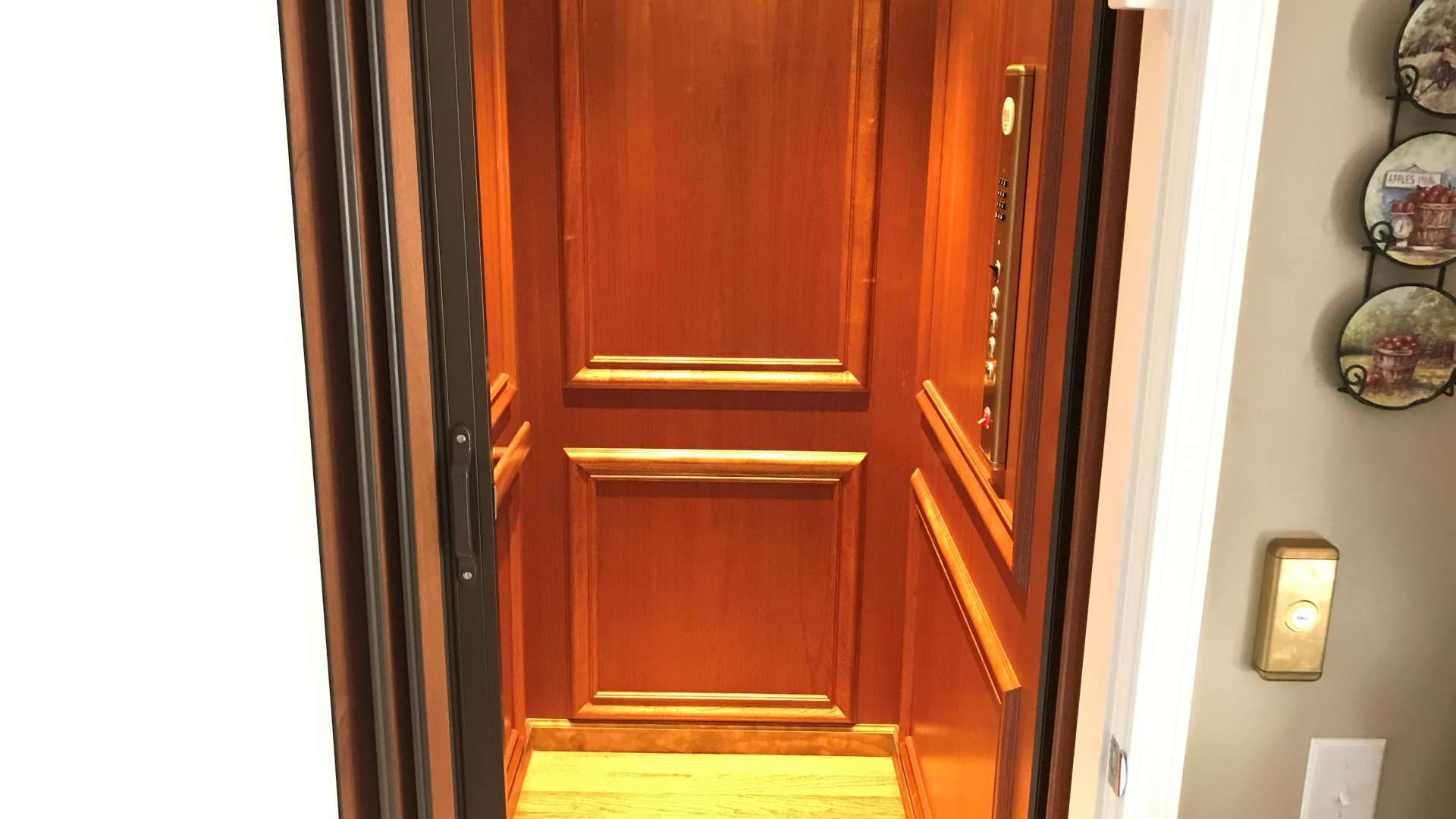 Extra wide doorways and an elevator make all floors easily accessible without having to climb stairs.