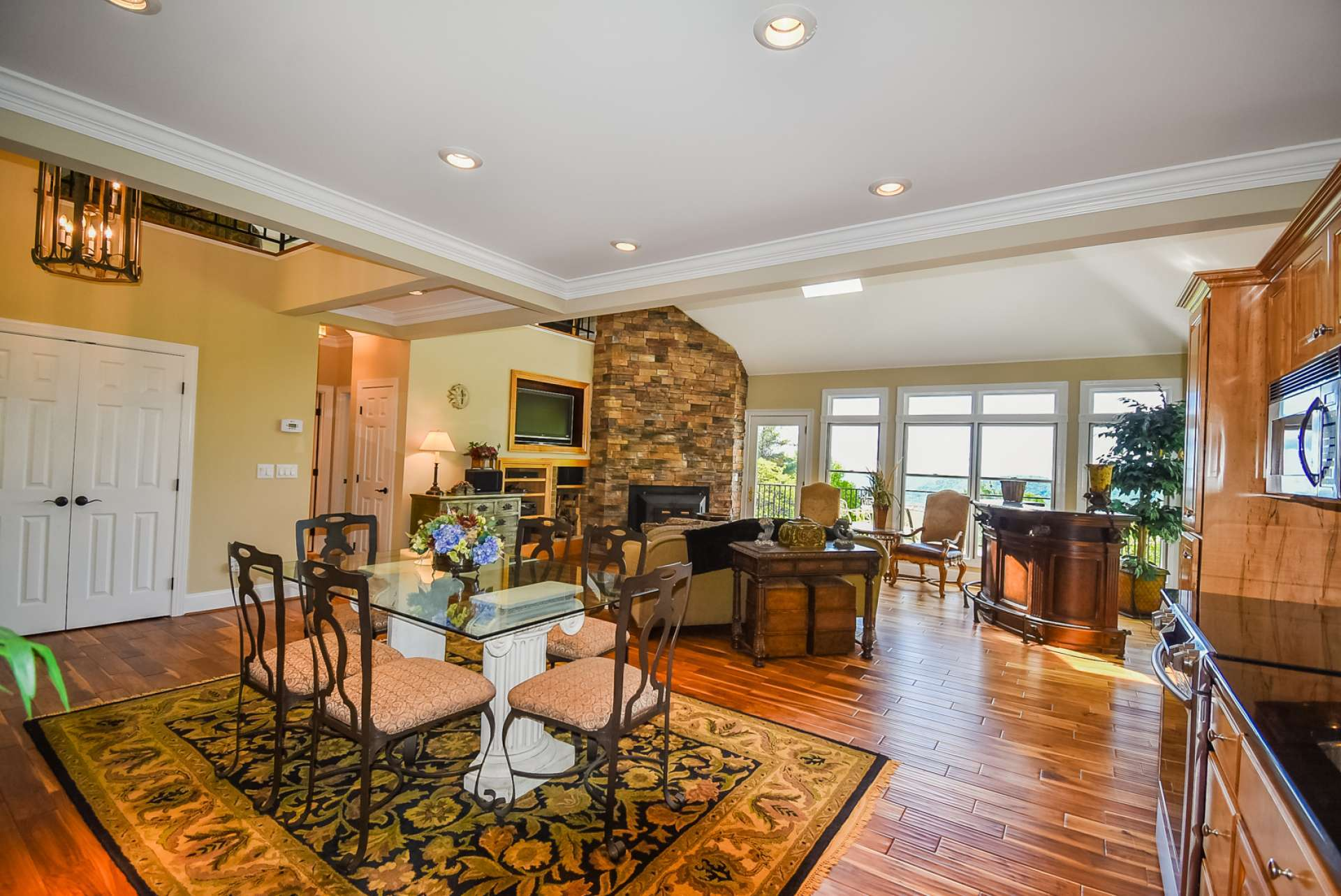 The open floor plan is perfect for entertaining.