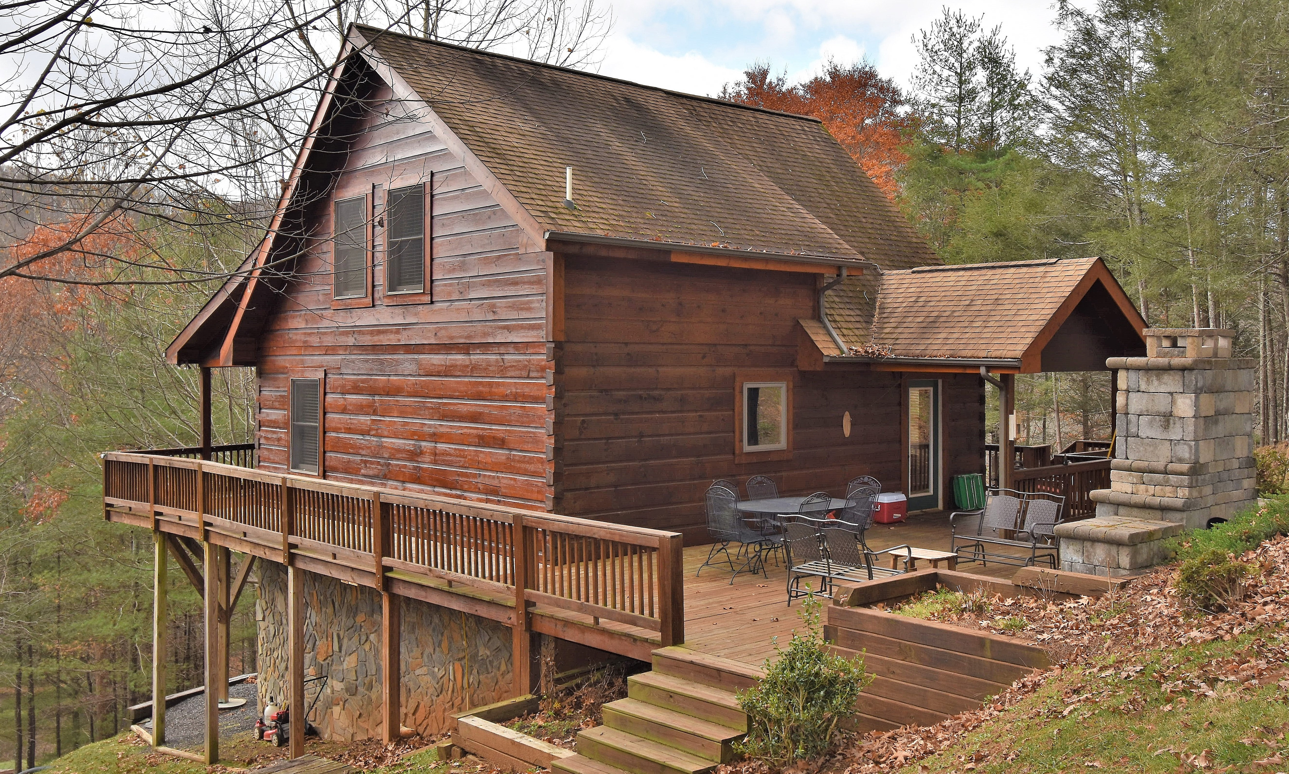 NC Mountain Log Cabin Riverfront Community