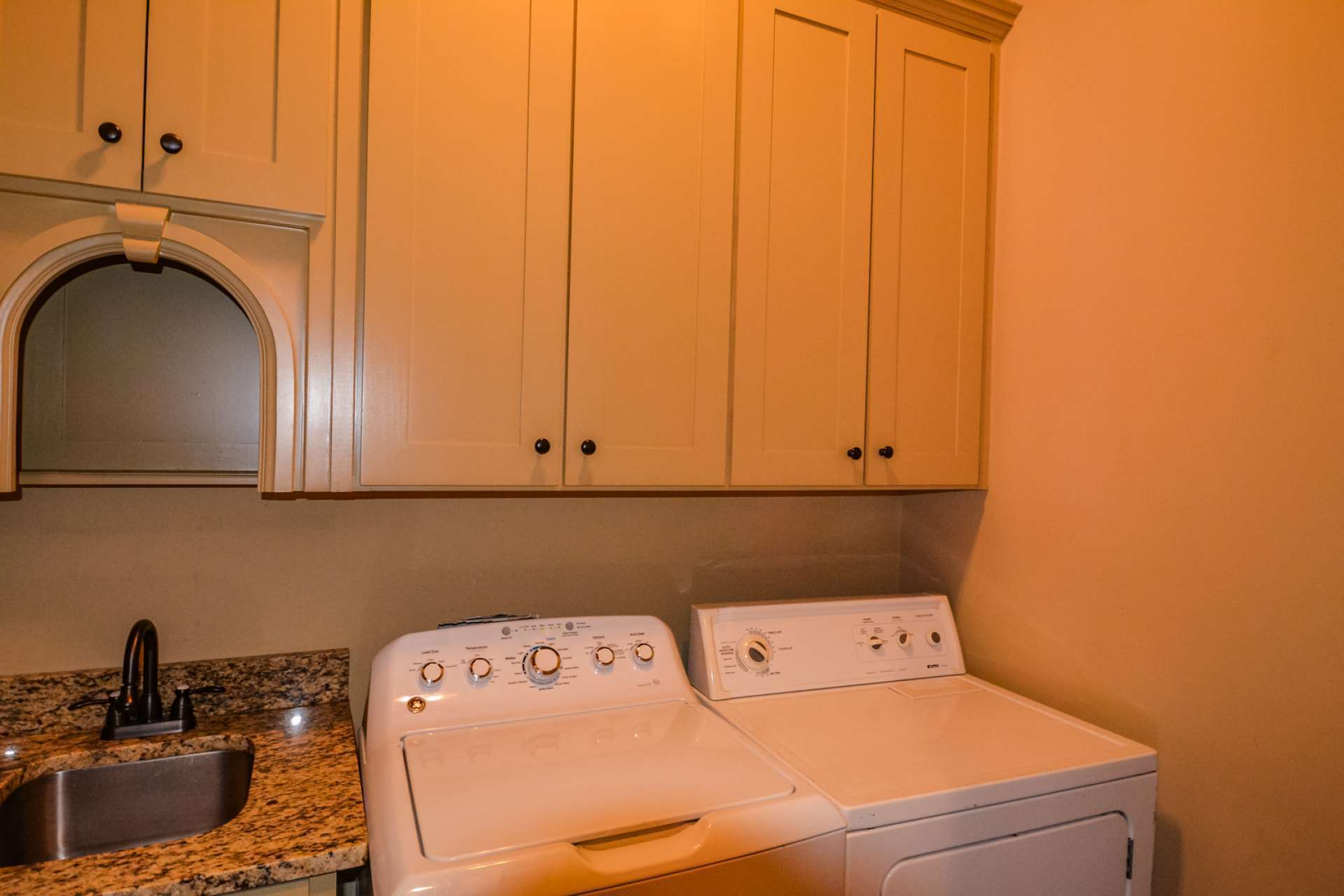 The laundry room completes the main level.