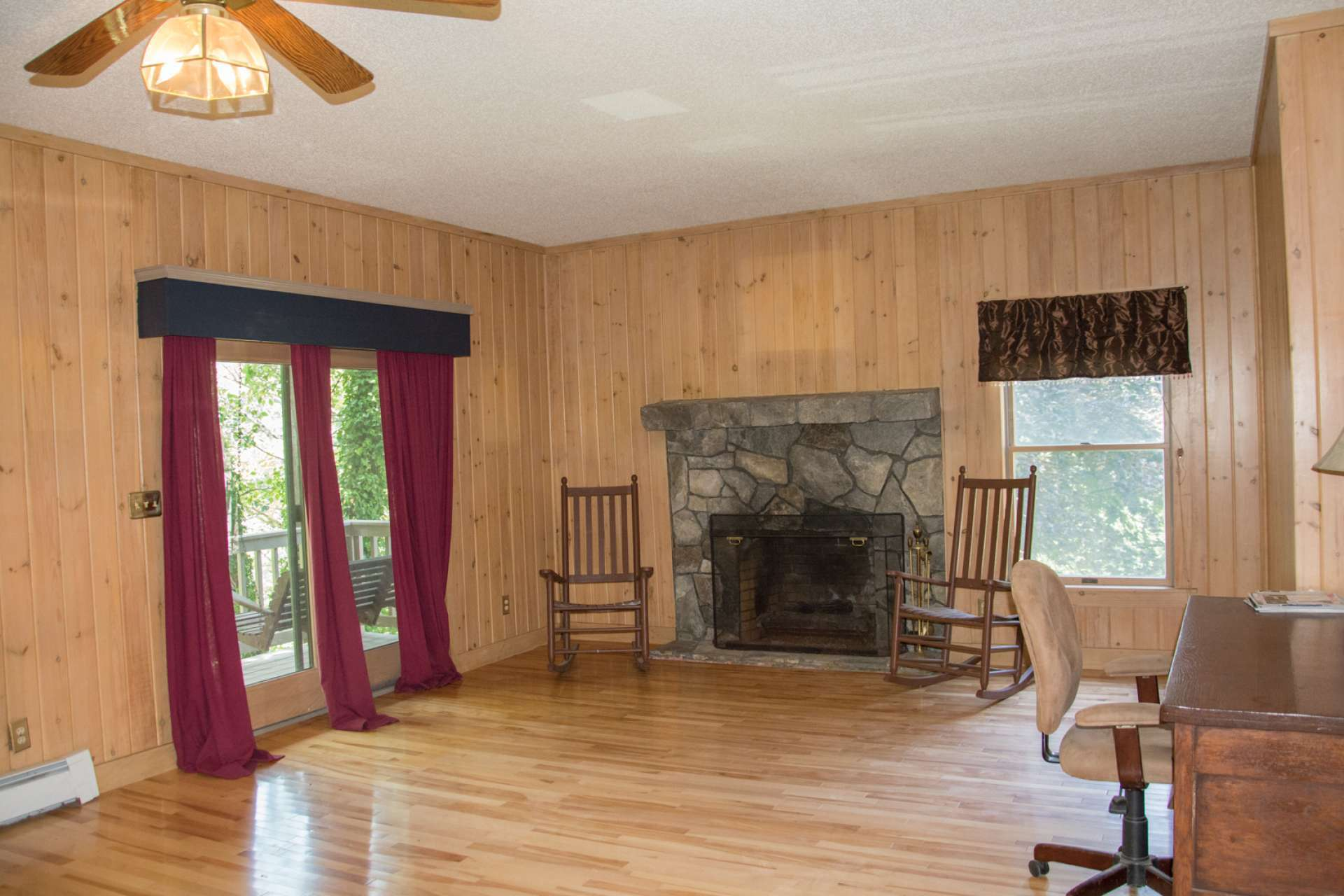 The upper level is truly a private retreat where you can enjoy the added warmth of the fireplace on cool winter evenings, or the fresh air of the private deck in warmer months.