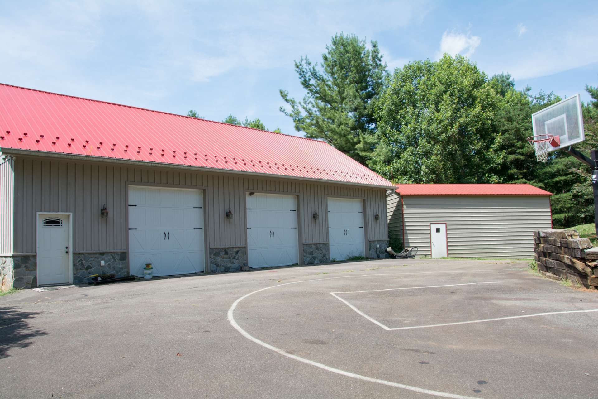 This 1,800 square foot detached heated 3-car garage provides plenty of protective coverage for your vehicles. Another 450 sq. ft. metal building provides additional storage space. There is another detached outbuilding with 2 garage bays.