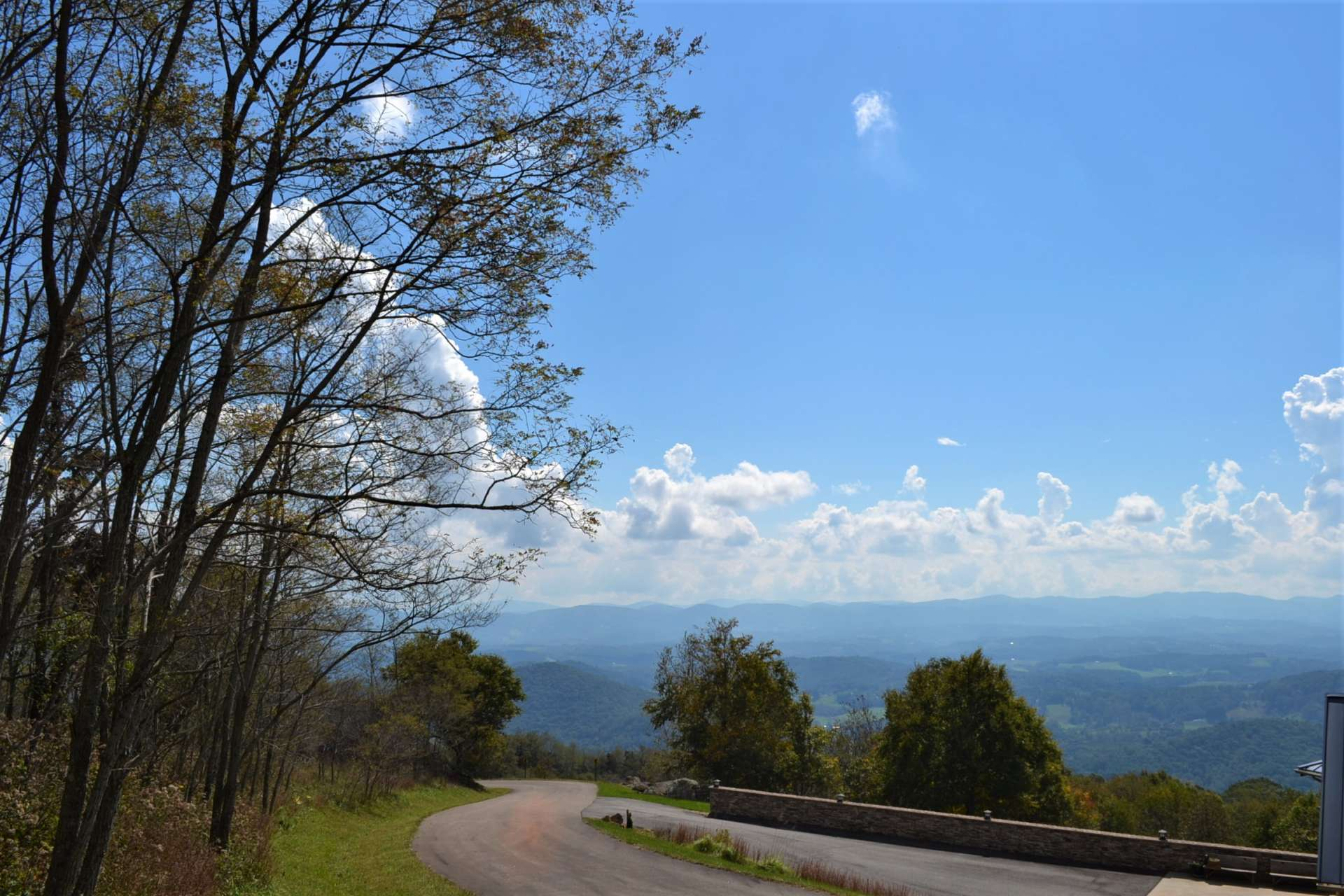 This photo was taken at the road frontage.  These views can be enjoyed from the porches and decks of your own mountain escape built  upon this premier  tract.