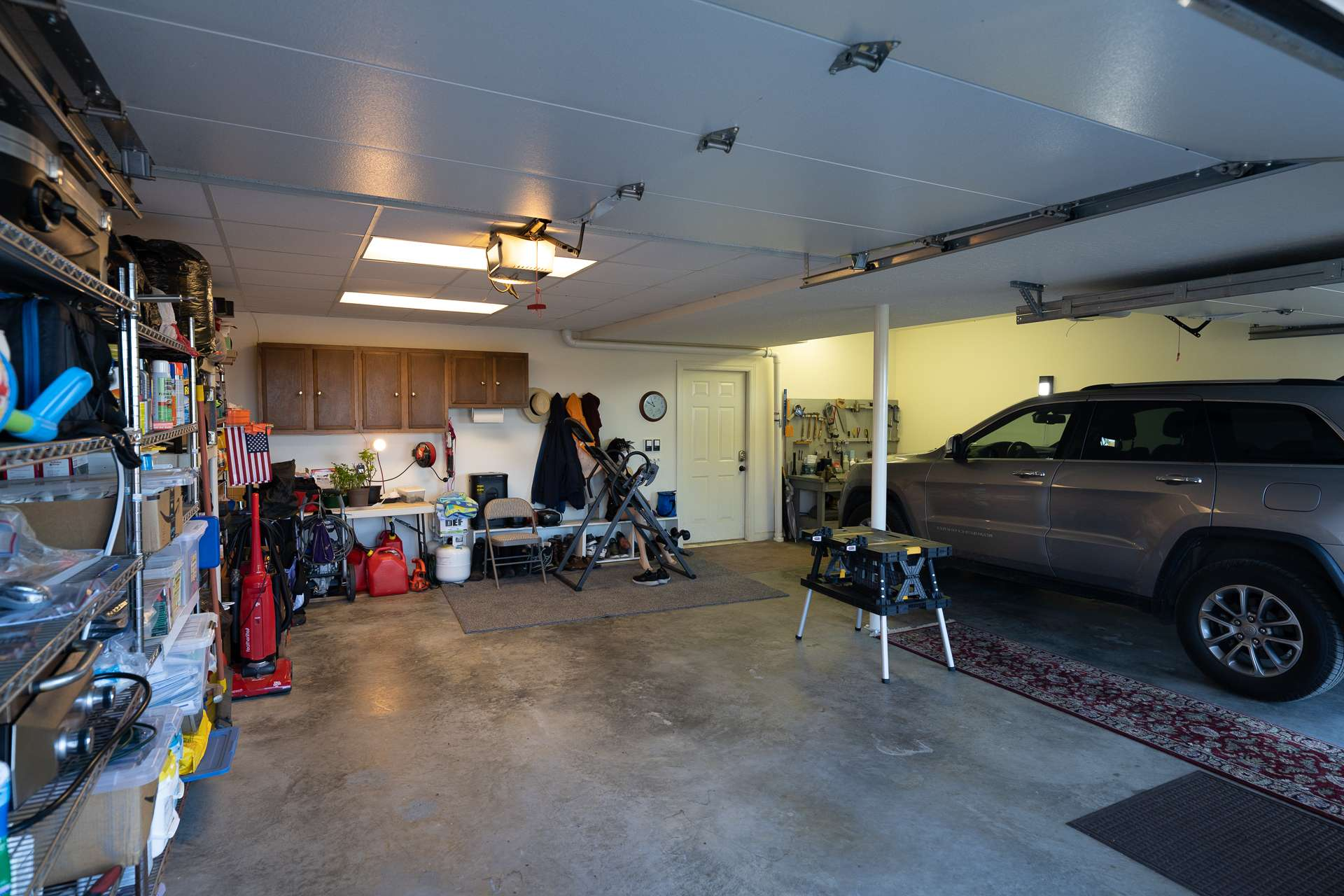 The remainder of the lower level is dedicated to the 2-car garage and storage space.