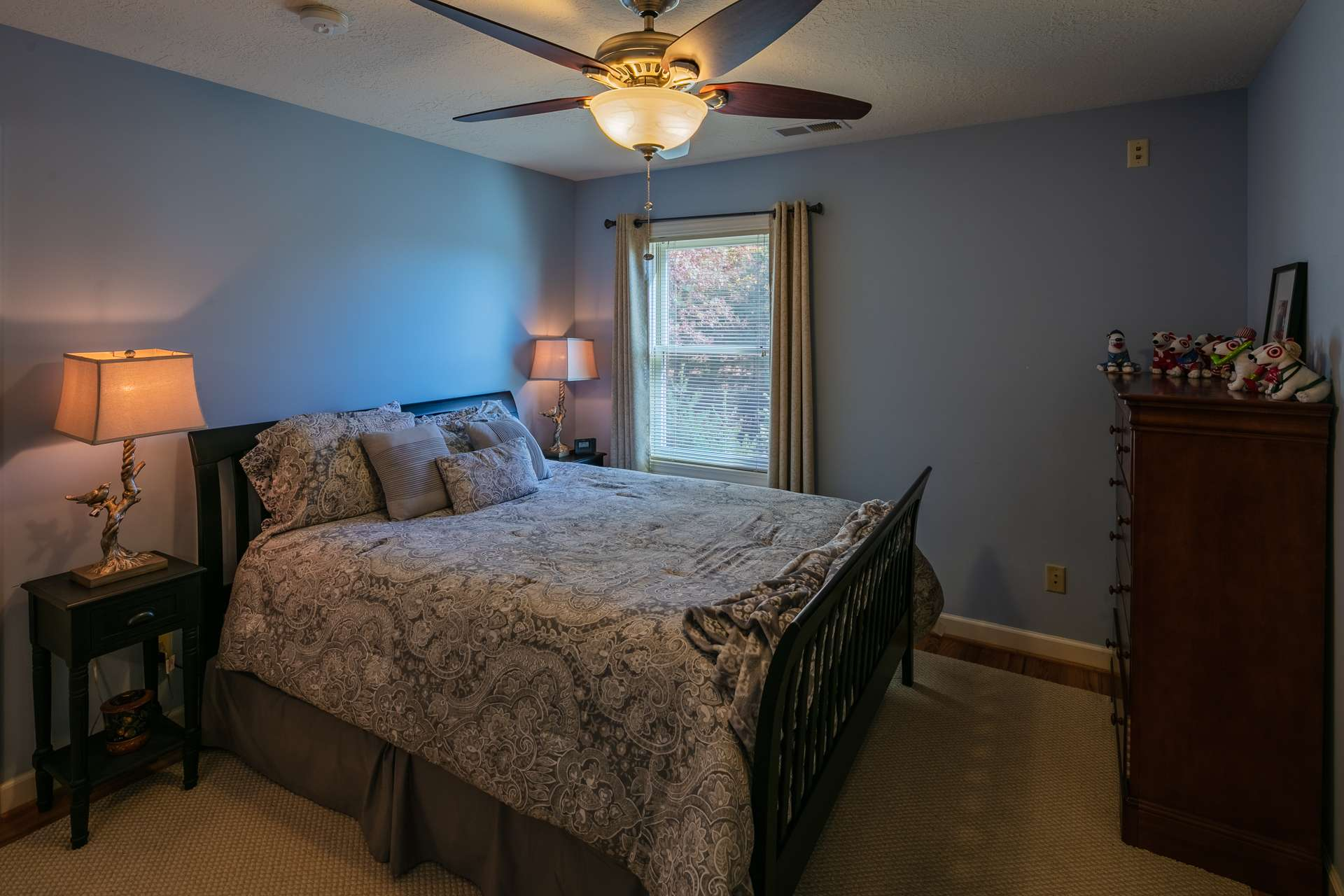 Bothe upper level bedrooms are amply sized.