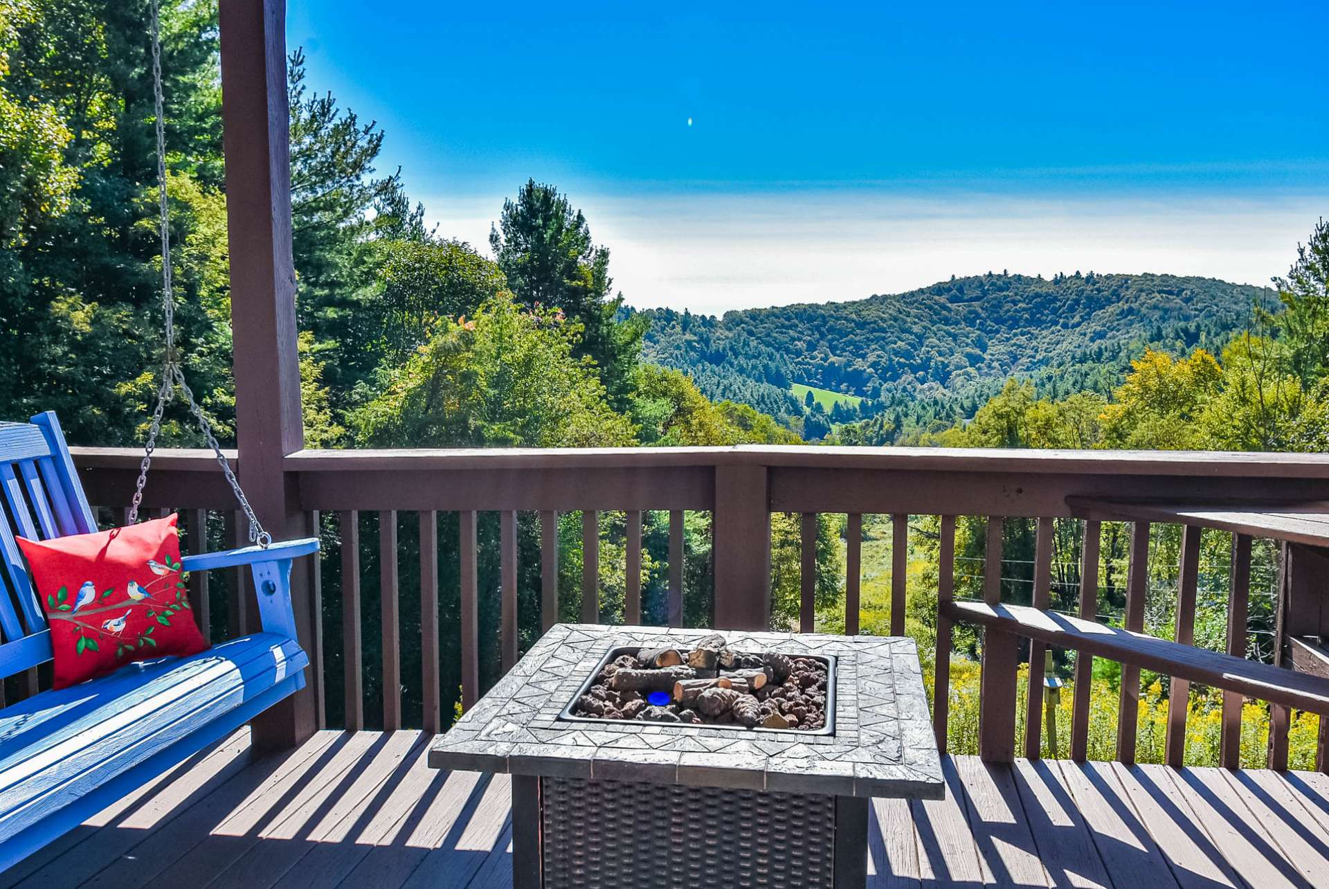 What a great place to enjoy the mountain views while sharing memories and stories around the firepit.