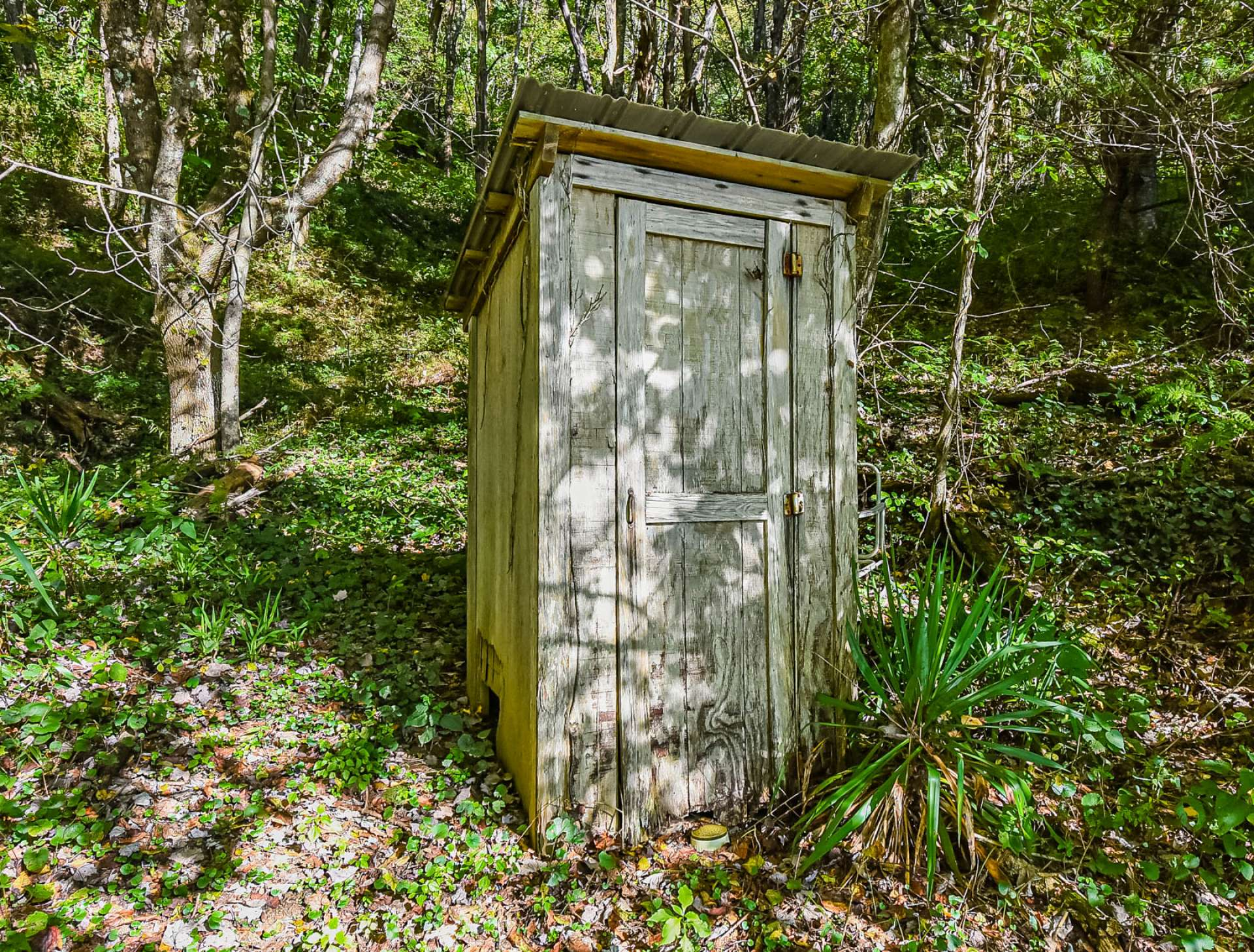 As a reminder of days gone by, this ornamental outhouse is quite the conversation item.
