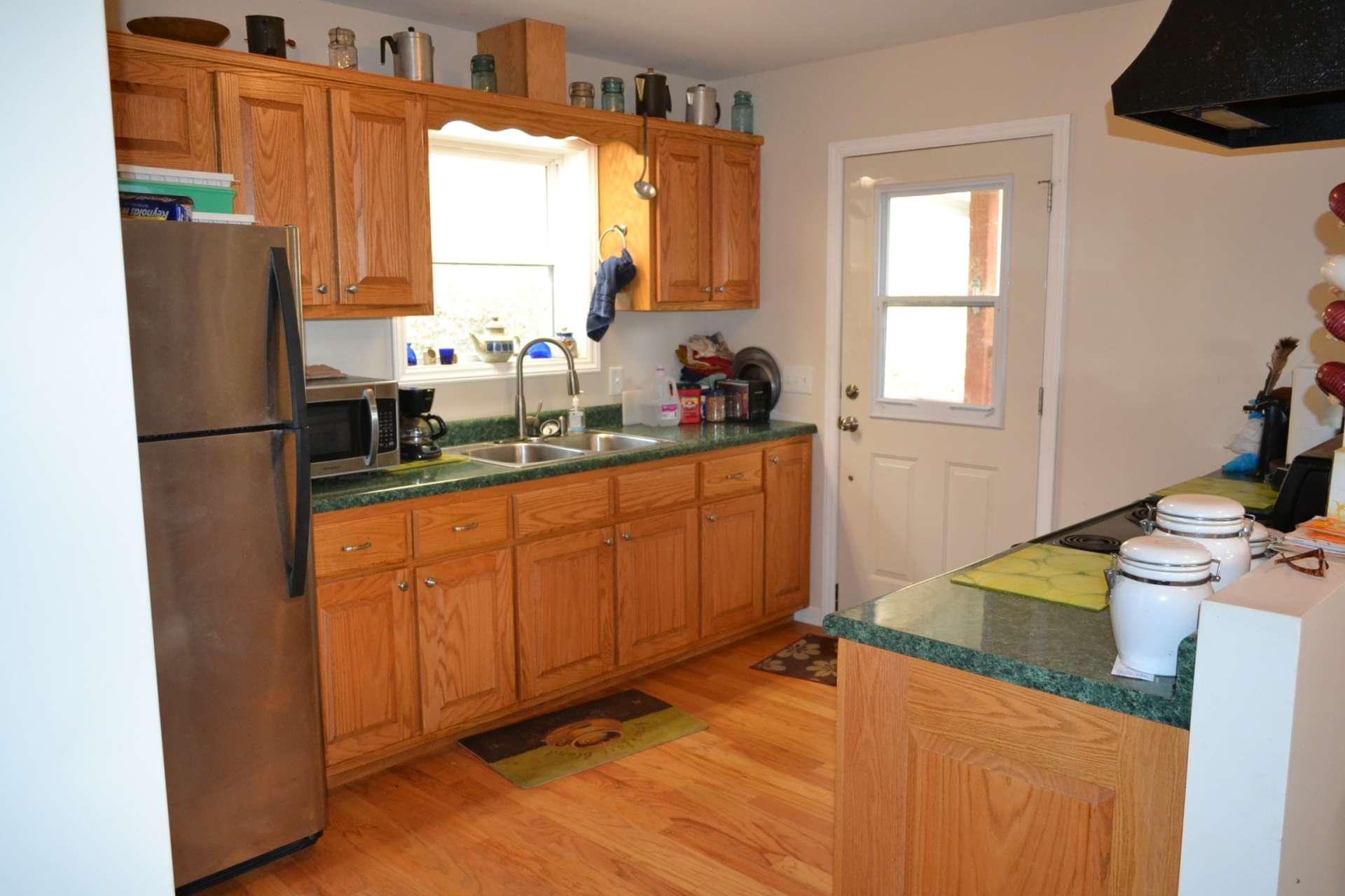The step saving and efficient kitchen offers ample work and storage space.