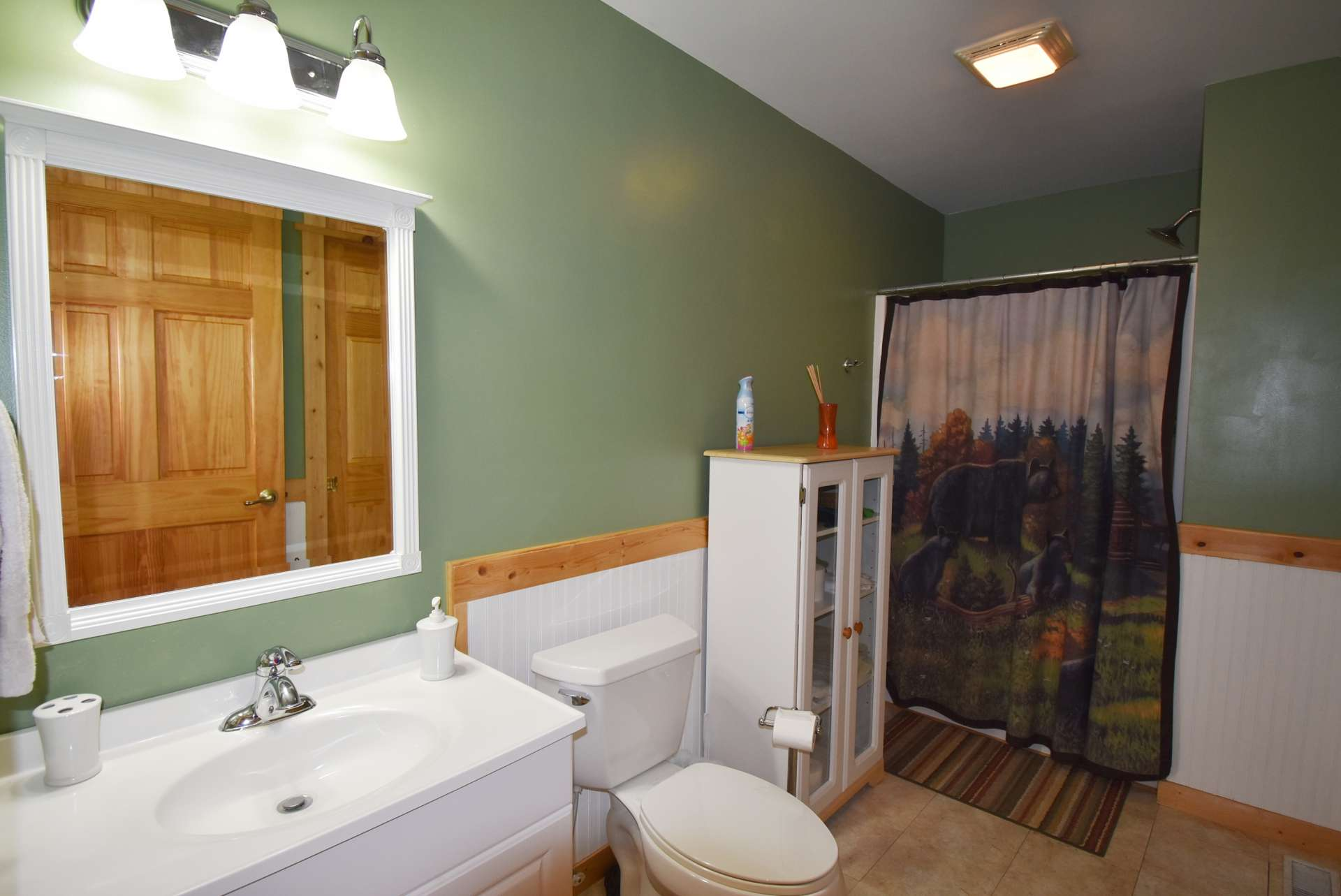 This is the guest bath that completes the main level.