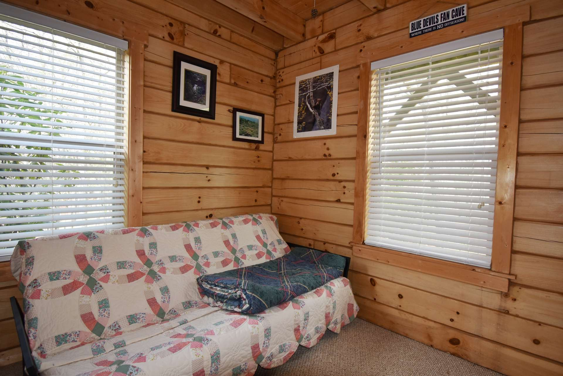 Both main level bedrooms  have warm and cozy carpeted floors.
