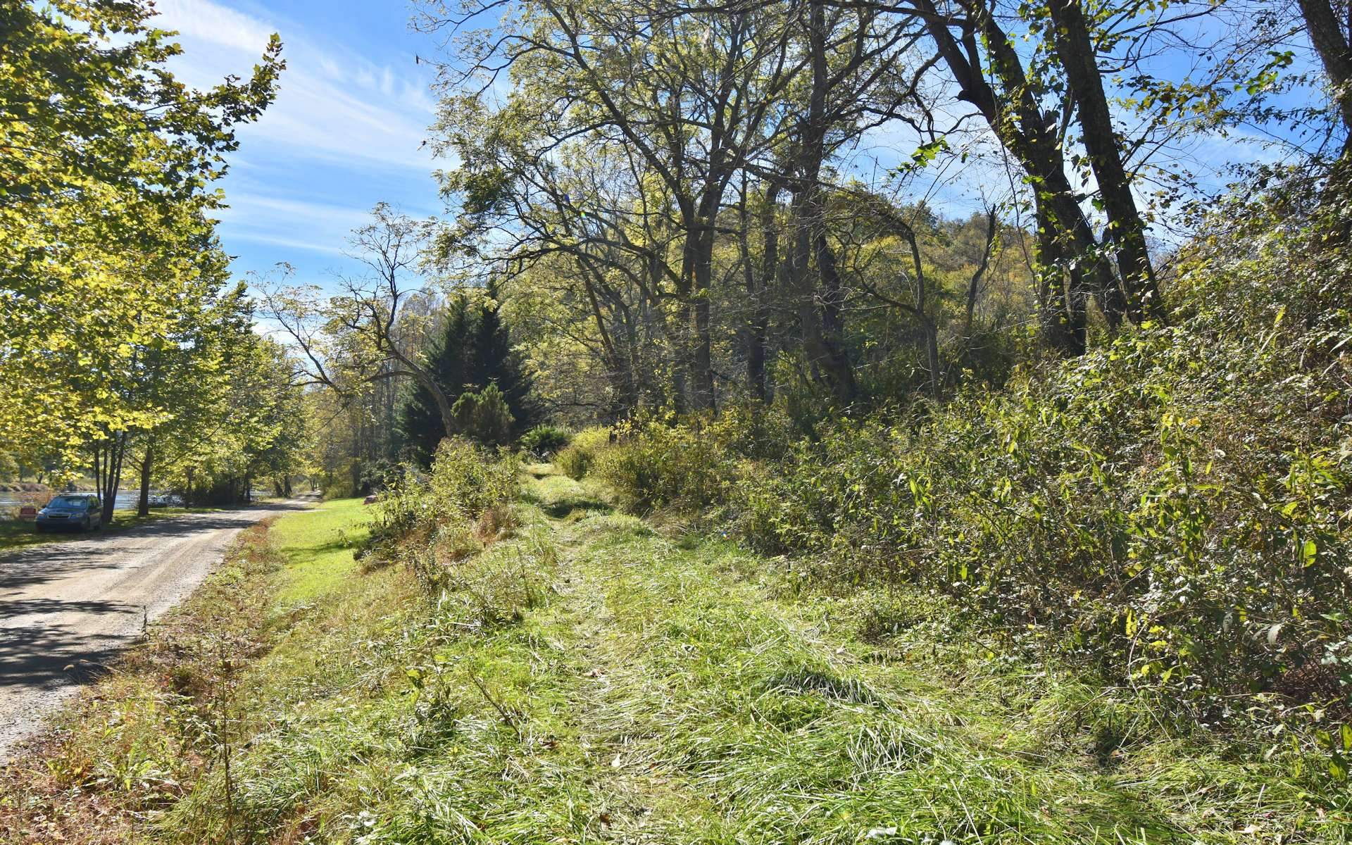 This is the access to the land for sale.  The land offers mostly gentle terrain overall with a nice creek and multiple building sites.