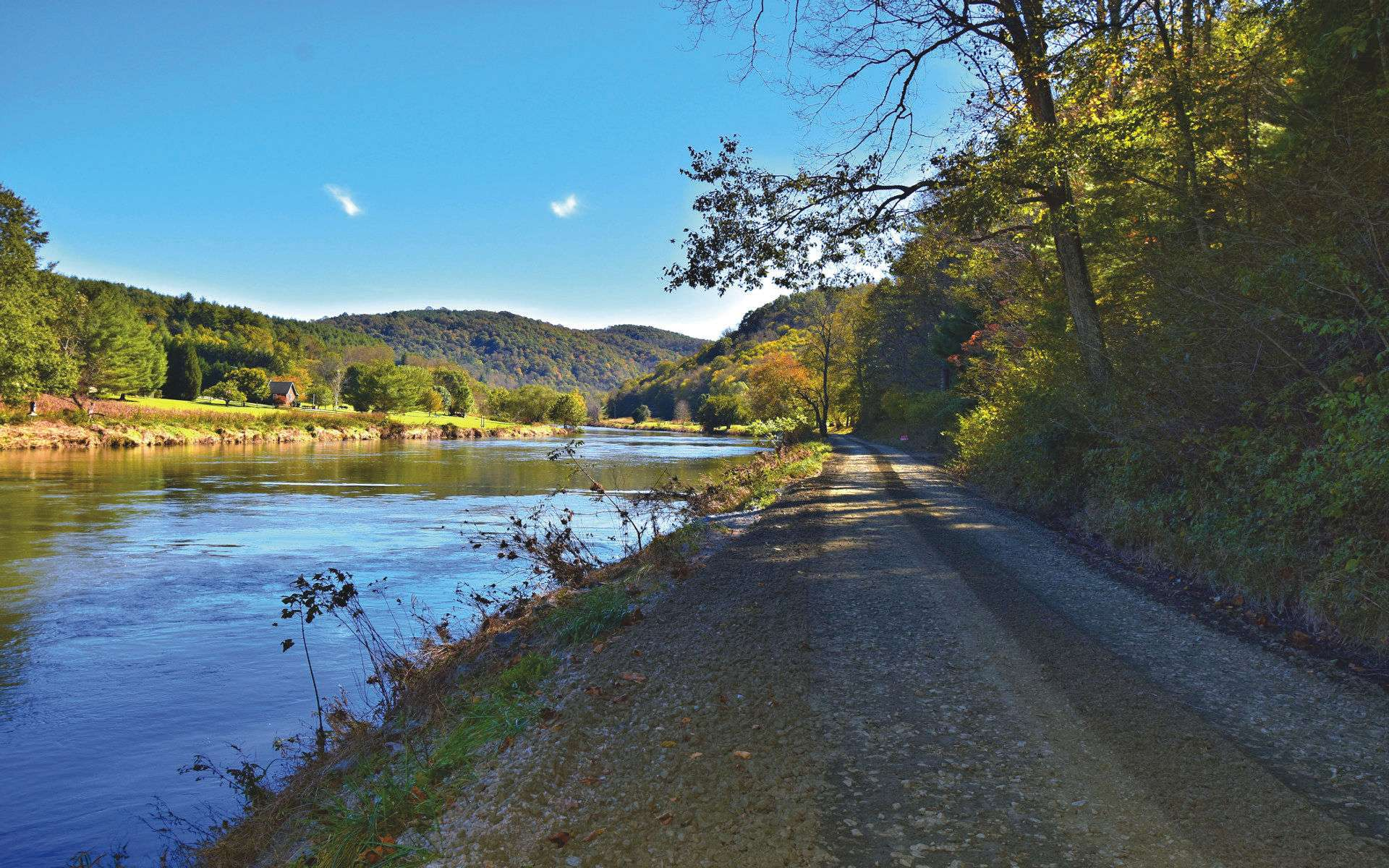 This beautiful riverfront acreage features over 700 feet of frontage on the South Fork of the New River.