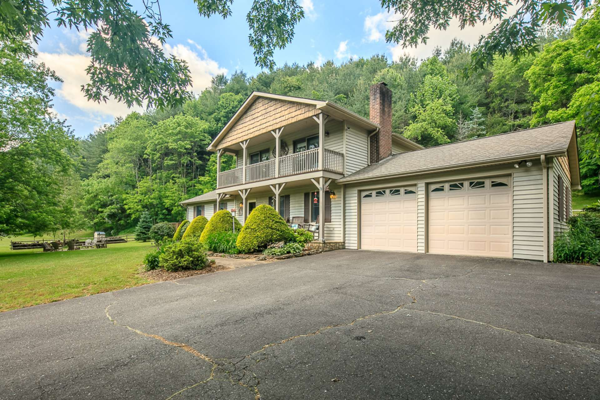 This property offers abundant parking space, including a 2-car garage.