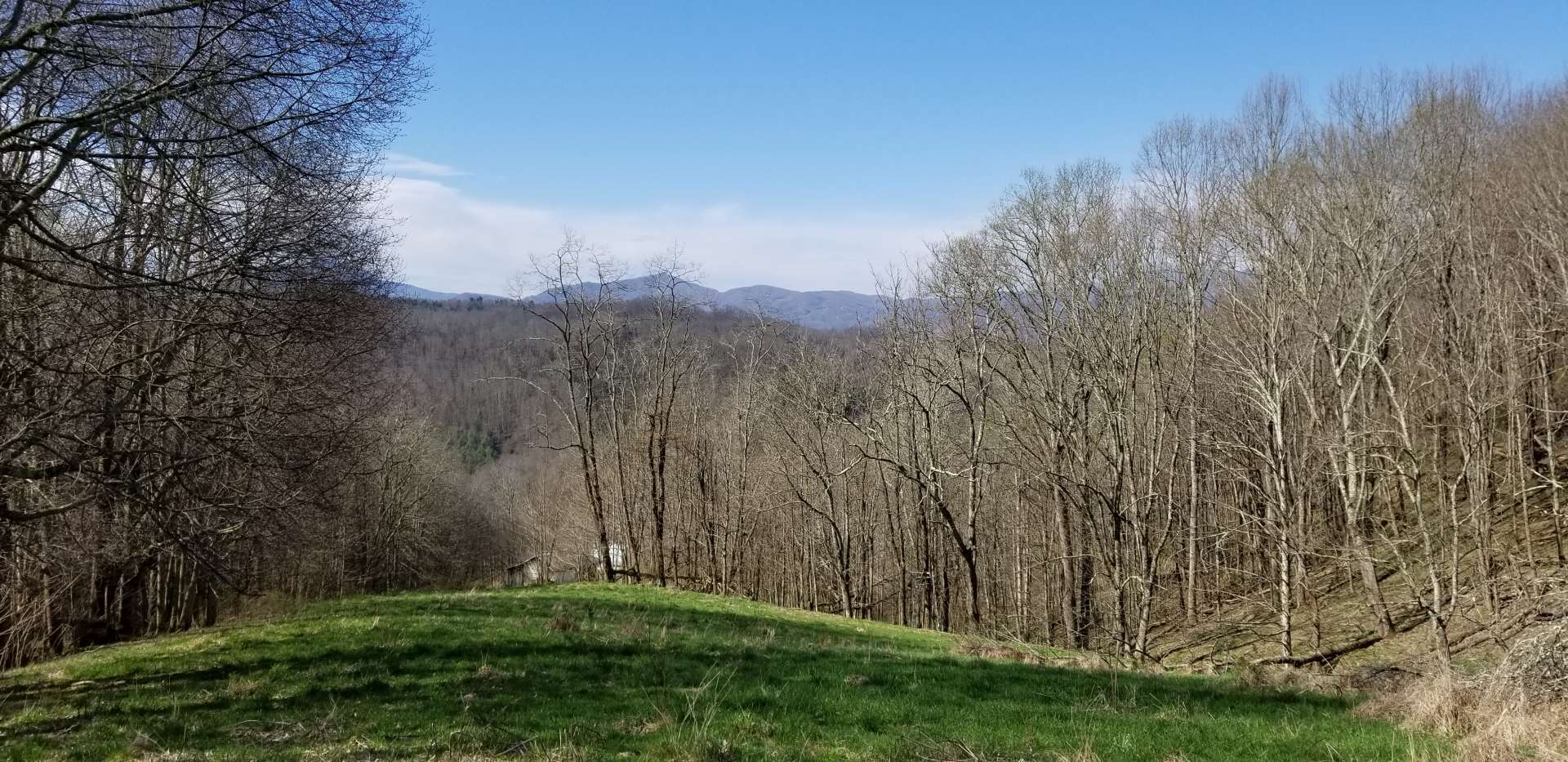 The property offers spectacular Grandfather Mountain views and multiple potential building sites.